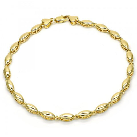 Gold Layered 03.210.0063.10 Fancy Anklet, Polished Finish, Golden Tone