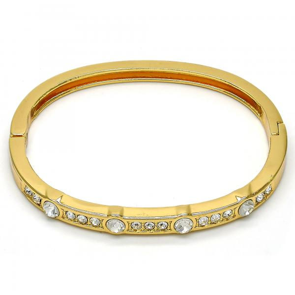 Gold Tone 07.252.0029.04.GT Individual Bangle, with White Crystal, Polished Finish, Golden Tone (05 MM Thickness, One size fits all)