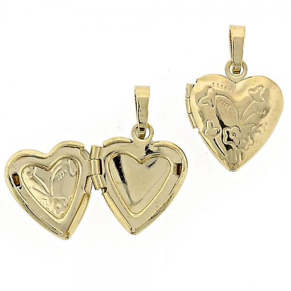 Gold Layered 5.179.010 Locket Pendant, Heart Design, Polished Finish, Golden Tone