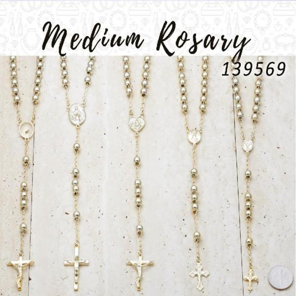 12 Medium Rosaries in Gold Layered ($8.33) ea