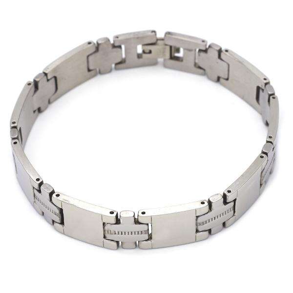 Stainless Steel 03.63.1562.08 Solid Bracelet, Polished Finish, Steel Tone