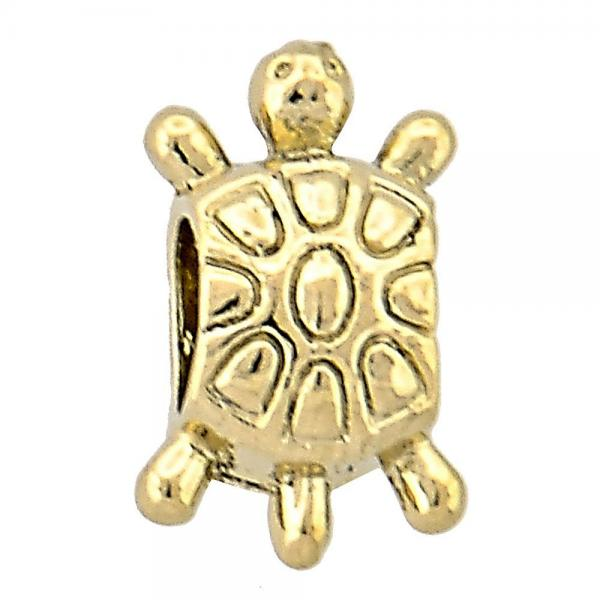 Gold Layered 05.179.0009 Love Link Pendant, Turtle Design, Golden Tone
