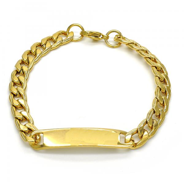 Stainless Steel 03.269.0009.08 ID Bracelet, Polished Finish, Golden Tone