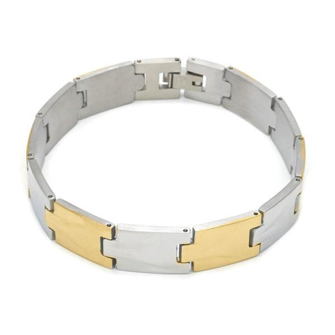 Stainless Steel 03.114.0262.08 Solid Bracelet, Polished Finish, Two Tone