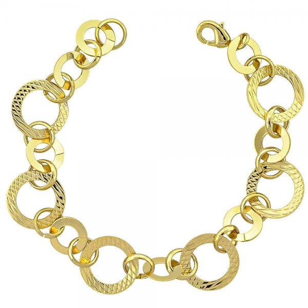 Gold Layered 03.118.0006 Fancy Bracelet, Golden Tone