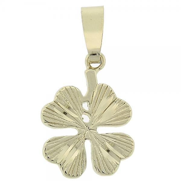 Gold Layered 5.183.048 Fancy Pendant, Flower Design, Diamond Cutting Finish, Golden Tone