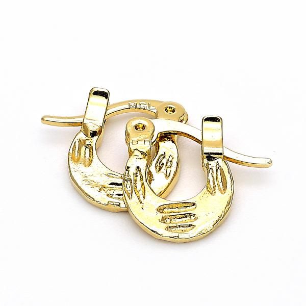 Gold Layered 5.159.077 Children Hoop, Diamond Cutting Finish, Golden Tone