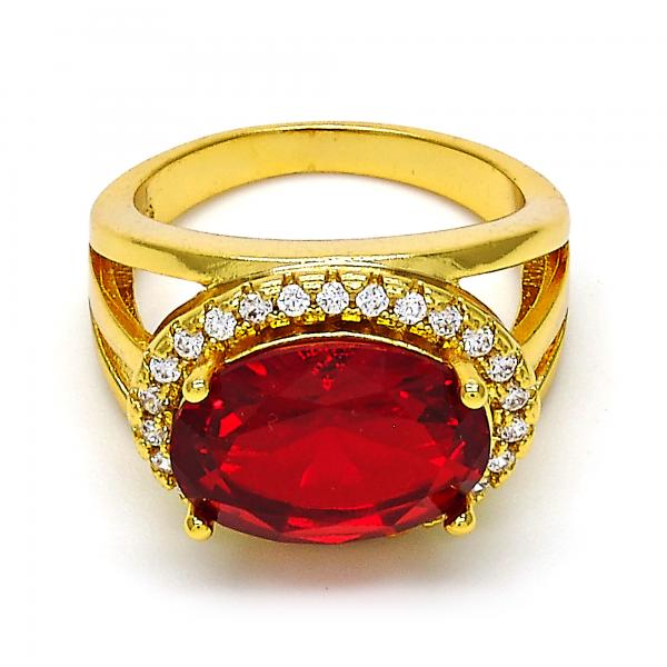 Gold Tone Multi Stone Ring, with Cubic Zirconia and Micro Pave, Golden Tone