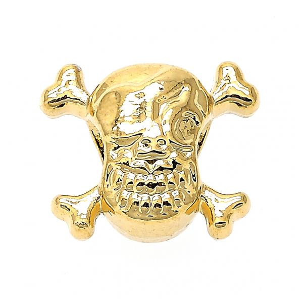Gold Layered 05.179.0049 Love Link Pendant, Skull Design, Golden Tone