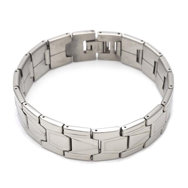 Stainless Steel 03.63.1665.08 Solid Bracelet, Polished Finish, Steel Tone