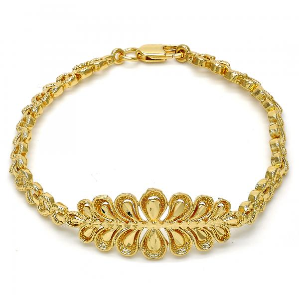 Gold Tone 03.192.0024.07.GT Fancy Bracelet, Infinite Design, Polished Finish, Golden Tone