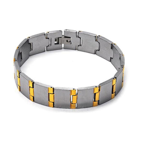 Stainless Steel 03.63.1460.08 Solid Bracelet, Polished Finish, Two Tone