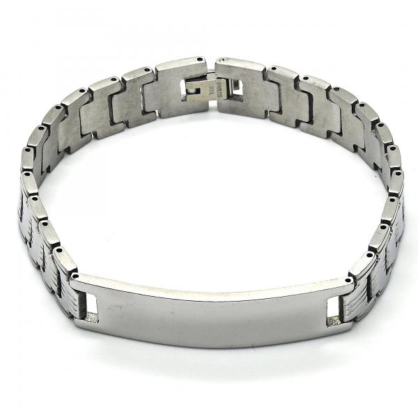 Stainless Steel 03.114.0289.08 ID Bracelet, Polished Finish, Steel Tone