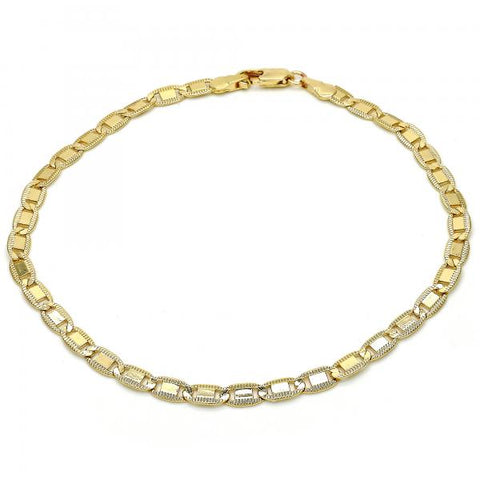 Gold Layered 03.63.1369.10 Basic Anklet, Polished Finish, Golden Tone