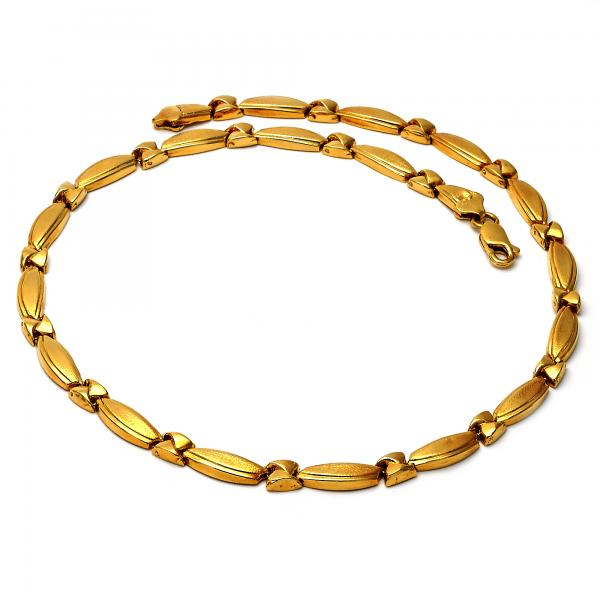 Gold Layered 019.001 Necklace and Bracelet, Hugs and Kisses Design, Polished Finish, Golden Tone