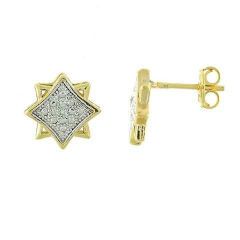 Gold Layered 02.55.0024 Stud Earring, Lion Design, Polished Finish, Two Tone