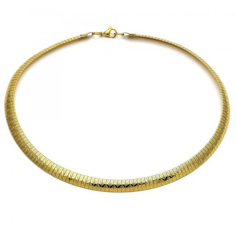 Stainless Steel 04.265.0011.18 Fancy Necklace, Matte Finish, Golden Tone