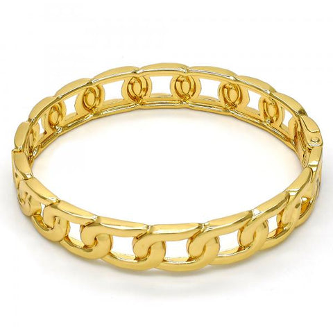 Gold Tone 07.252.0025.05.GT Individual Bangle, Polished Finish, Golden Tone (12 MM Thickness, Size 5 - 2.50 Diameter)