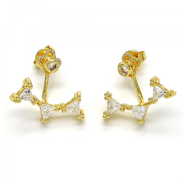 Gold Layered 02.156.0177 Dangle Earring, with White Cubic Zirconia, Polished Finish, Golden Tone