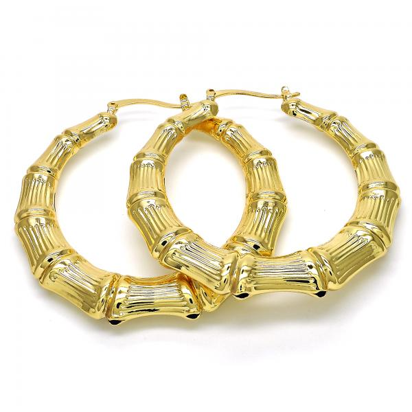 Gold Layered 5.148.016.60 Large Hoop, Hollow Design, Polished Finish, Golden Tone