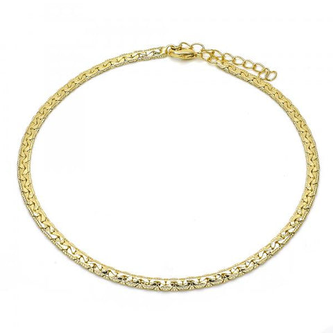 Gold Layered 04.213.0098.10 Basic Anklet, Polished Finish, Golden Tone