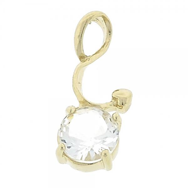 Gold Layered 5.181.011 Fancy Pendant, with White Cubic Zirconia, Polished Finish, Golden Tone