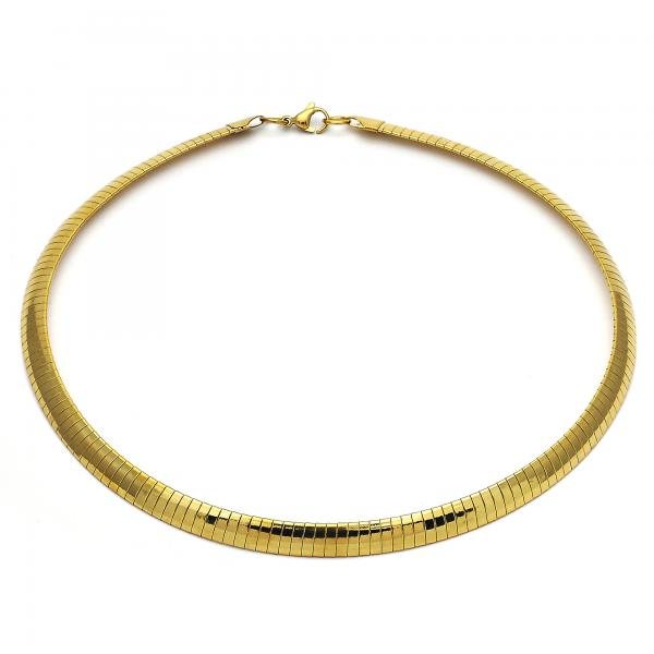Stainless Steel 04.265.0012.18 Fancy Necklace, Polished Finish, Golden Tone