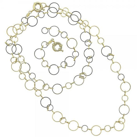 Gold Layered 5.220.008 Necklace and Bracelet, Polished Finish, Golden Tone