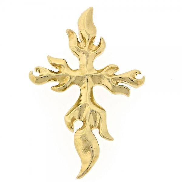 Gold Layered 5.189.004 Religious Pendant, Cross Design, Golden Tone