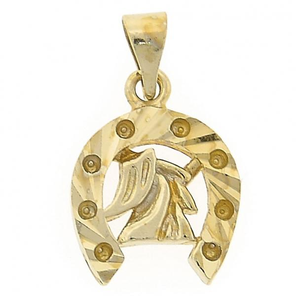 Gold Layered 5.183.053 Fancy Pendant, Buffalo Design, Golden Tone