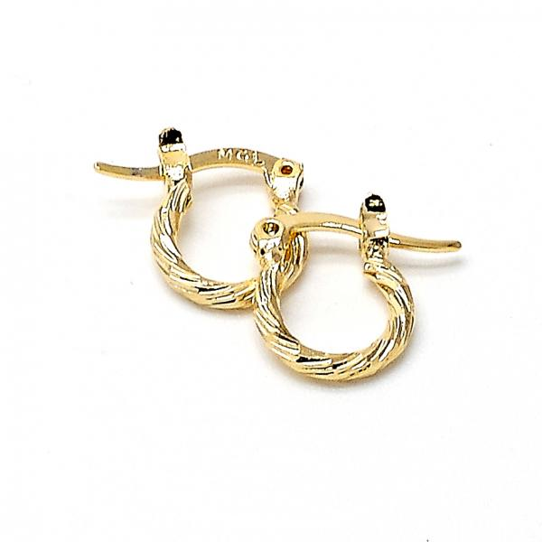 Gold Layered Children Hoop, Golden Tone