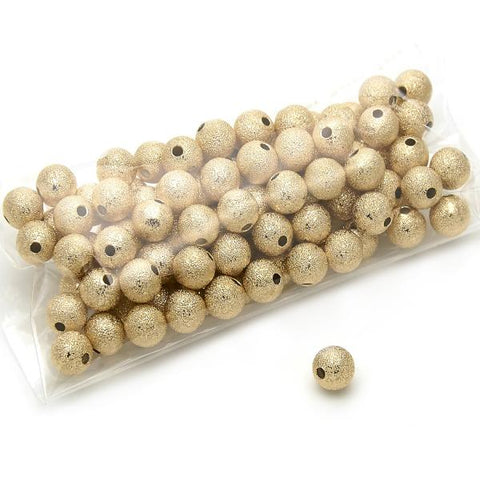 Gold Layered 5.234.027.10.100 Bead, Ball Design, Matte Finish, Golden Tone
