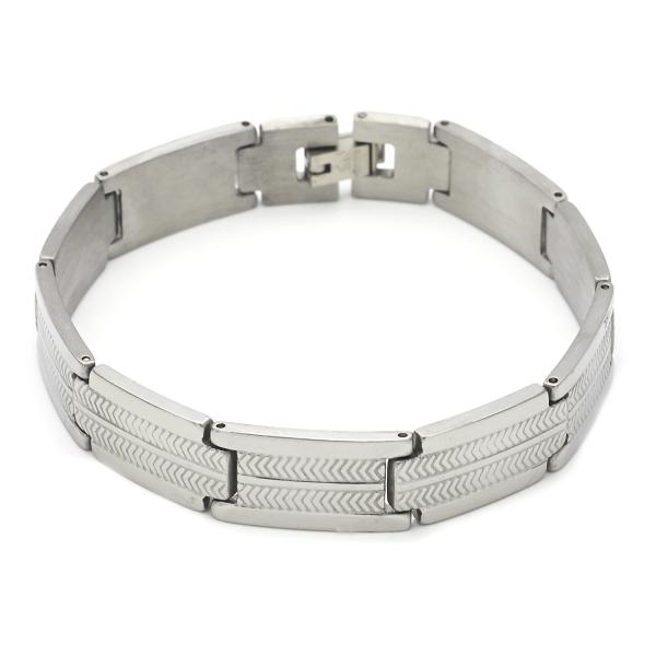 Stainless Steel 03.63.1656.08 Solid Bracelet, Polished Finish, Steel Tone