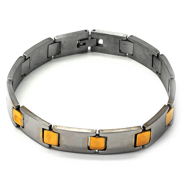 Stainless Steel 03.63.1462.08 Solid Bracelet, Polished Finish, Two Tone