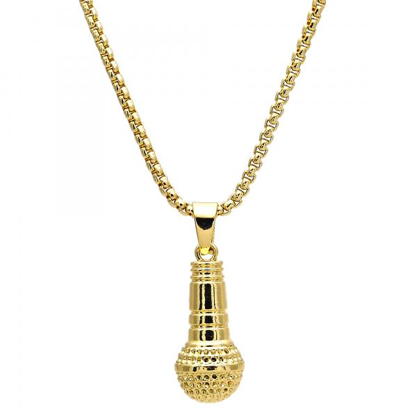 Gold Layered 04.242.0074.30 Pendant Necklace, Polished Finish, Golden Tone