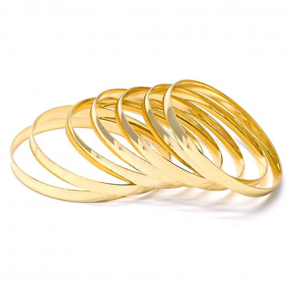 Gold Plated Semanario Bangle, Golden Tone