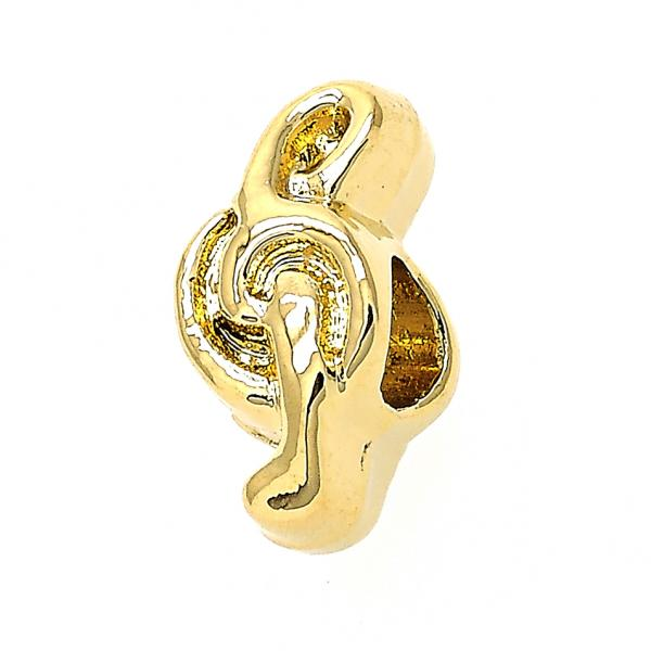 Gold Layered 05.179.0020 Love Link Pendant, Music Note Design, Golden Tone