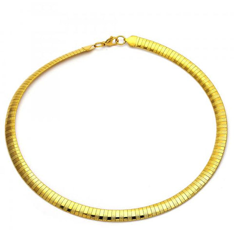 Stainless Steel 04.265.0009.18 Fancy Necklace, Matte Finish, Golden Tone