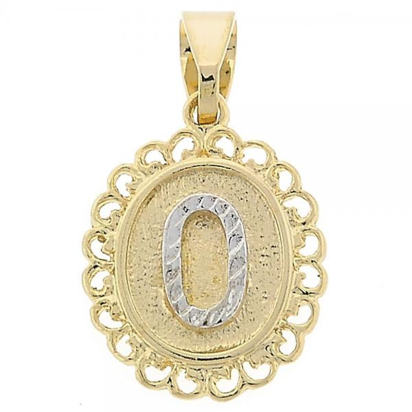 Gold Layered 05.16.0170 Fancy Pendant, Two Tone