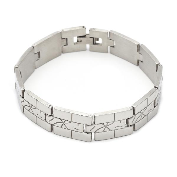 Stainless Steel 03.63.1559.08 Solid Bracelet, Polished Finish, Steel Tone