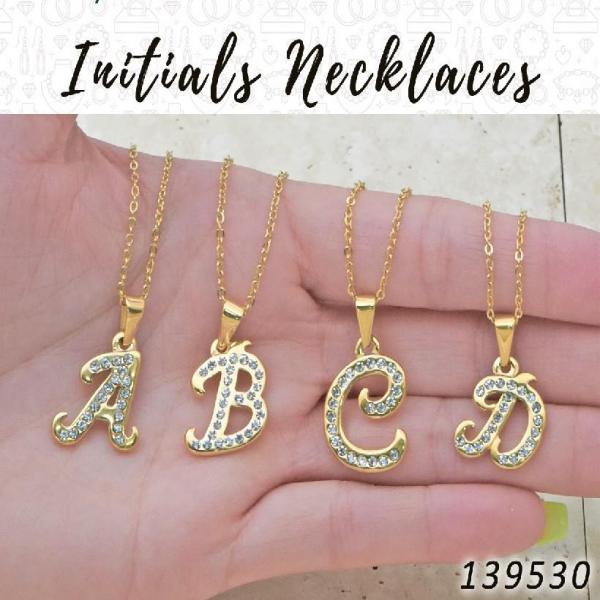 25 Initials Necklaces in Gold Layered ($4.00) ea