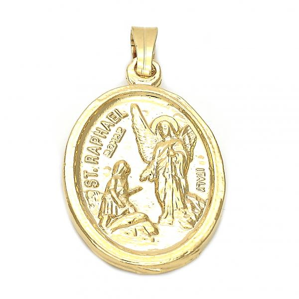 Gold Layered 5.199.027.1 Religious Pendant, Angel Design, Golden Tone