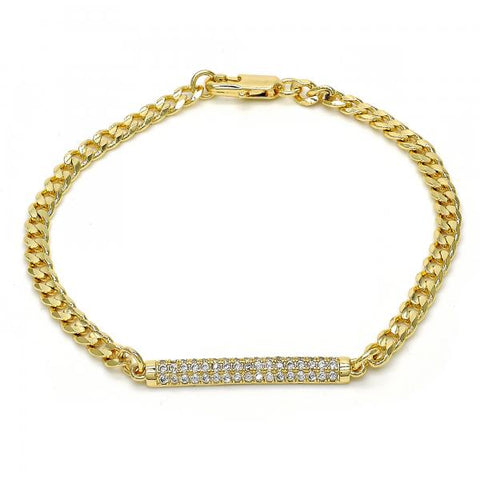 Gold Layered 03.94.0005.08 Fancy Bracelet, with White Micro Pave, Polished Finish, Golden Tone