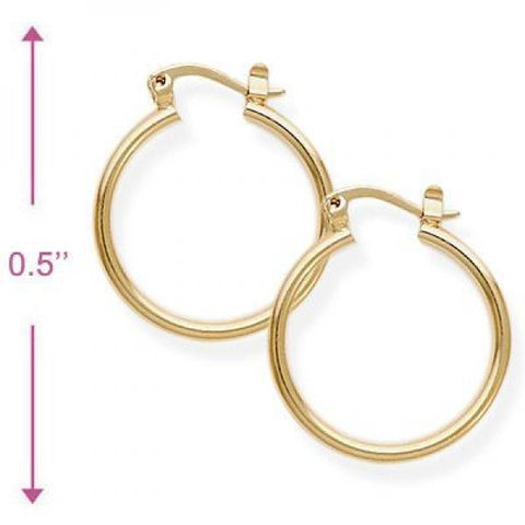 Gold Layered 5.134.014.10.100 Children Hoop, Polished Finish, Golden Tone