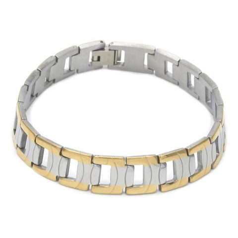 Stainless Steel 03.114.0264.08 Solid Bracelet, Polished Finish, Two Tone