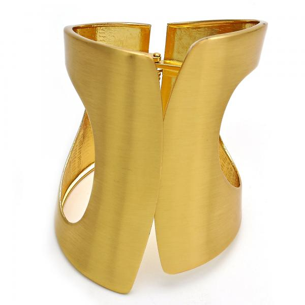 Gold Layered 07.252.0010 Individual Bangle, Polished Finish, Golden Tone (50 MM Thickness, One size fits all)