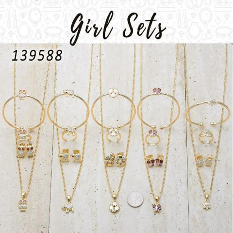 12 Girl Sets in Gold Layered ($8.33) ea