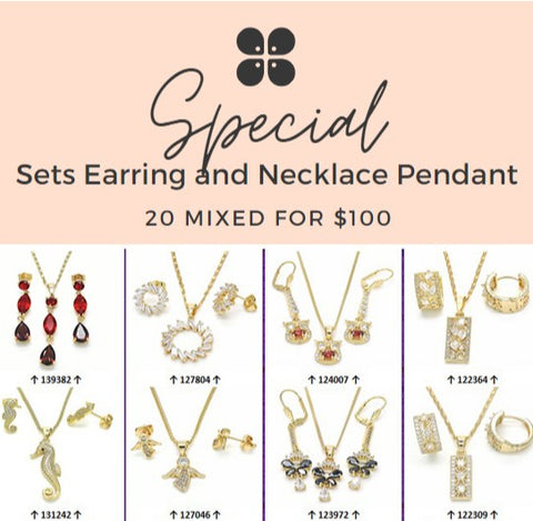 20 Necklace, Pendant, Earrings Sets ($5.00 ea) Assorted Mixed Styles
