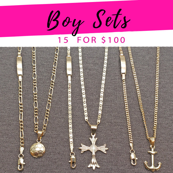 15 Sets for Boys in Gold Layered ($6.67 each) for $100