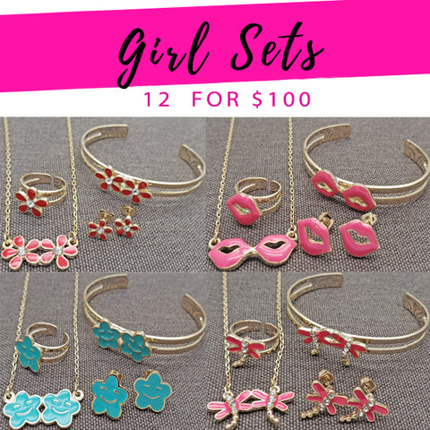 12 Sets for Girls in Gold Layered ($8.33 each) for $100